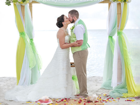 Key Lime design for your  beach wedding in Key West
