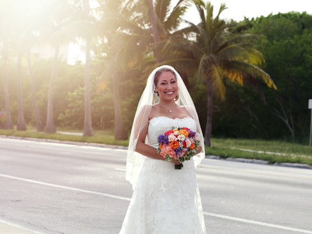Private wedding ceremony at the Smathers beach , Key West