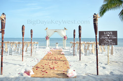 Key West wedding on a beach