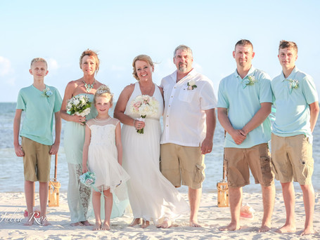 Shelby and Tom - Key West wedding ceremony at the Smathers beach
