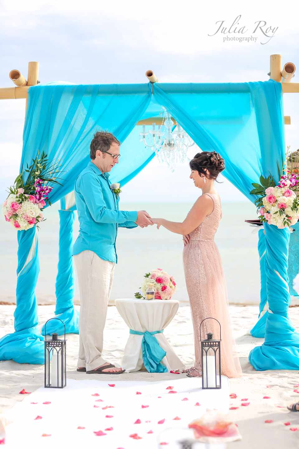 turquoise wedding in key west