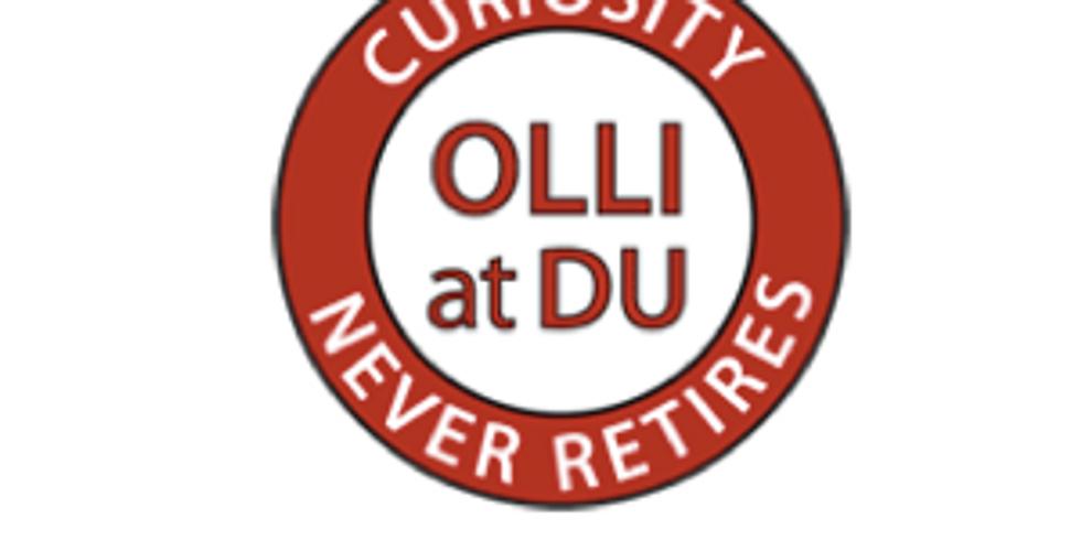 OLLI at DU - Colorado Authors Speaker Series, Denver, CO - VIRTUAL