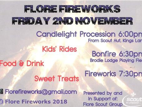 Flore Firework Display 2018