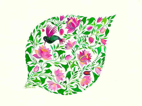 Humming Bird Leaf II