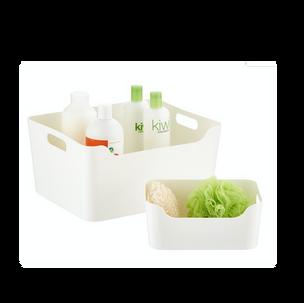 Plastic Storage Bins with Handles