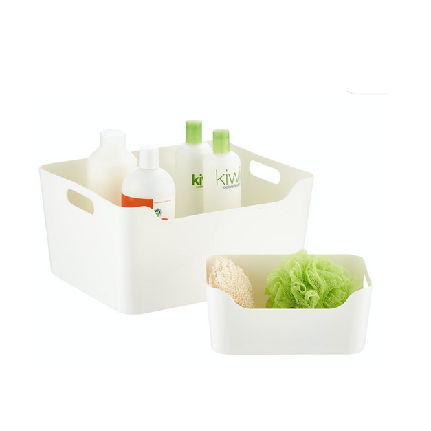 Plastic Storage Bins with Handles