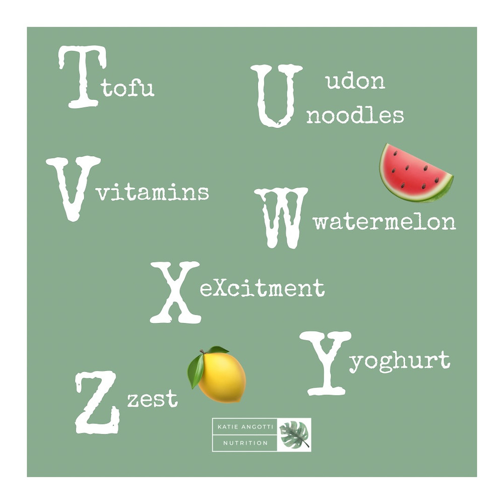 A-Z of introducing solids weaning food ideas