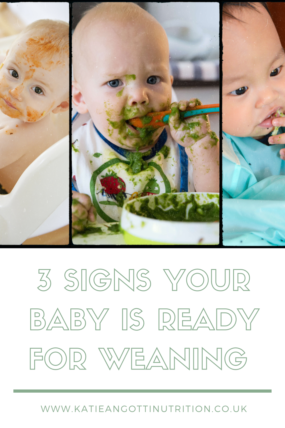 Weaning baby introducing solids baby eating food from a spoon sat in a highchair