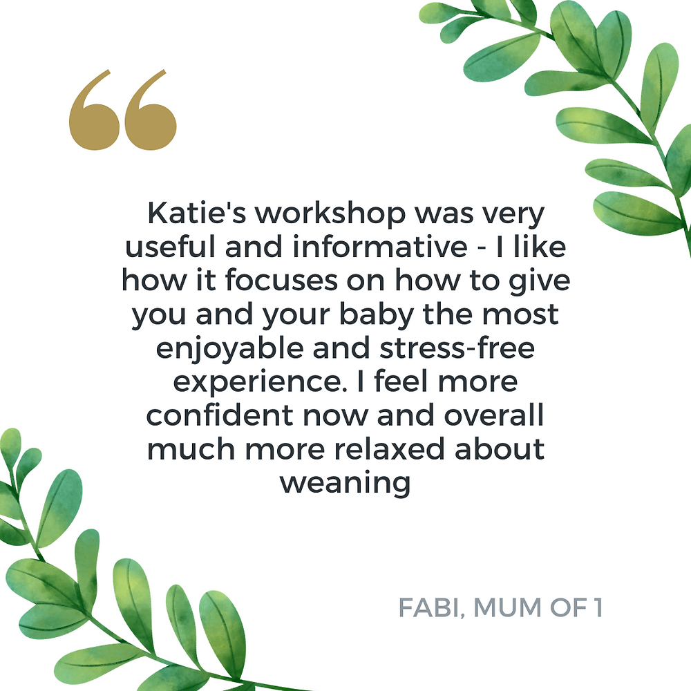 weaning workshop for introducing solids to baby led by a baby nutritionist