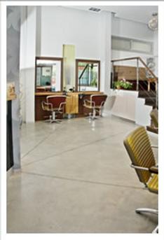 רצפת בטון מוחלק מאפשרת חיתוכים גיאומטרים