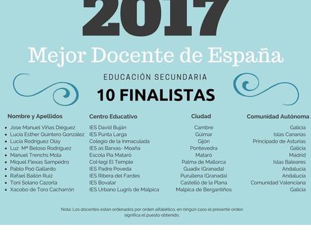 Finalista a Mejor Docente del Año 2017