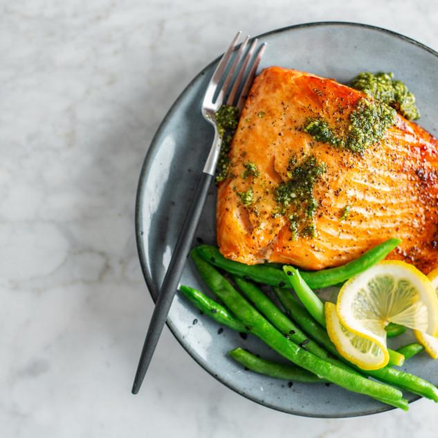 Salmon al Pesto