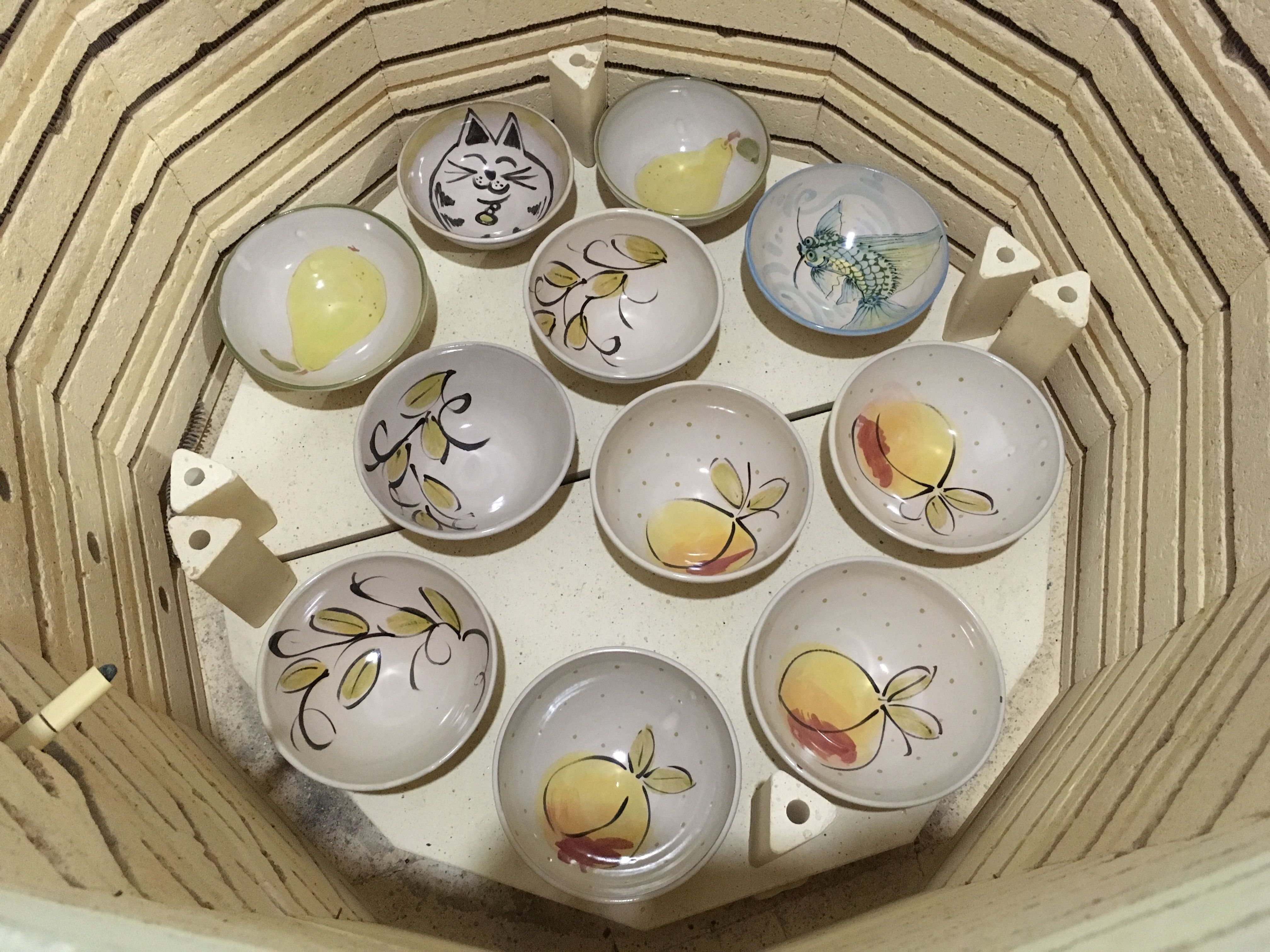 Bowls in the kiln