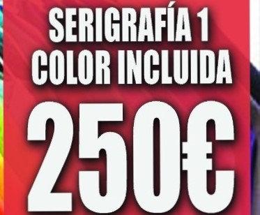 100 camisetas color con serigrafia