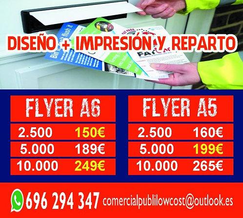 PACK DISEÑO+IMPRESIÓN+REPARTO