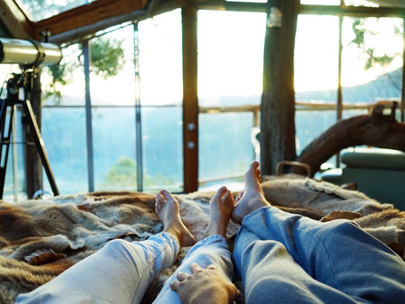 Staying in a hidden tree house purpose built for couples