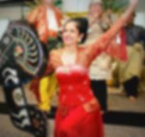 Sweta Rai performing an Indonesian dance