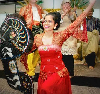 Sweta Rai performing an Indonesian dance