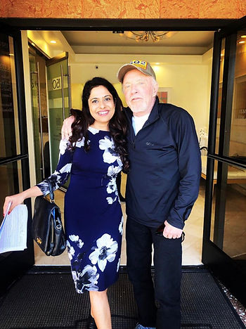 Sweta Rai with James Caan at their movie shoot