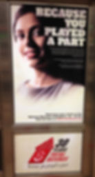 Sweta Rai's poster at a metro station in Singapore