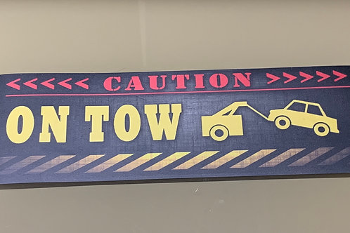 On - Tow Magnetic Sign
