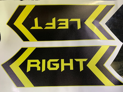 Left - Right Stickers