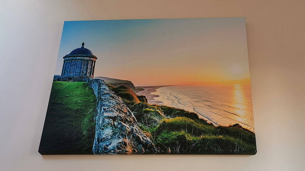 SALE - Mussenden Temple Sunset (Large Canvas Print 40in x 30in)