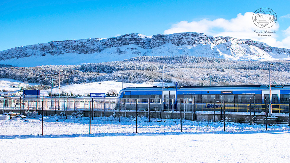 Bellarena Station in the Snow