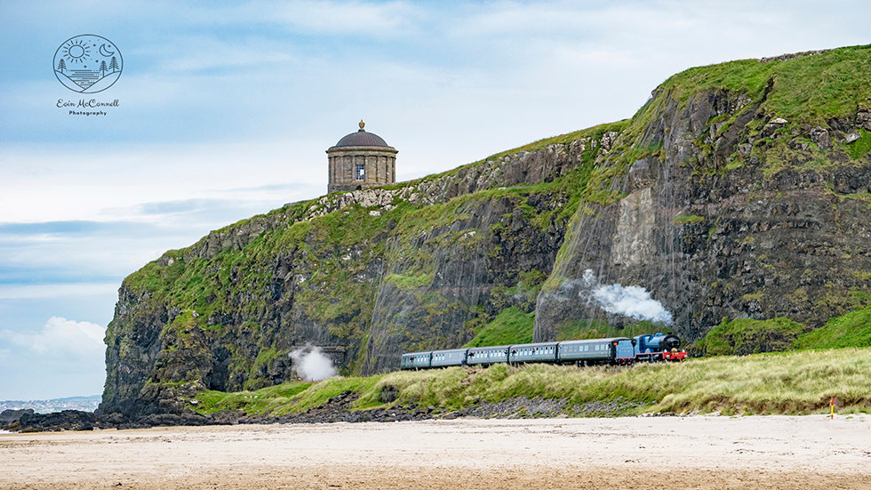 Steam Train Under Mussenden Temple