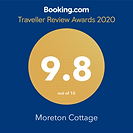 Booking.com 9.8 Review for our luxury holiday cottage in the cotswolds