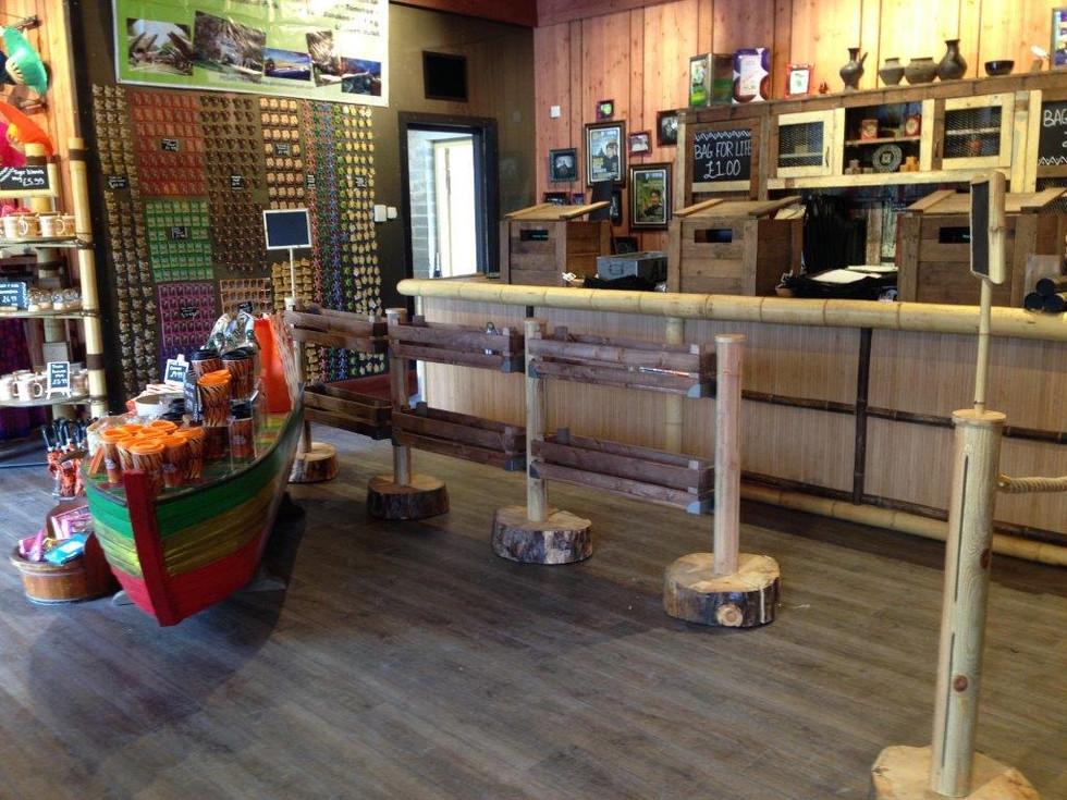 Themed cash desk area