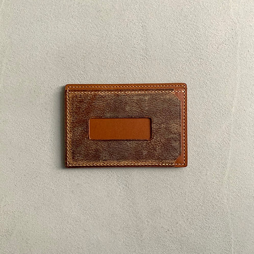 Anchor Bridge Kudu Leather New Card Case - Camel