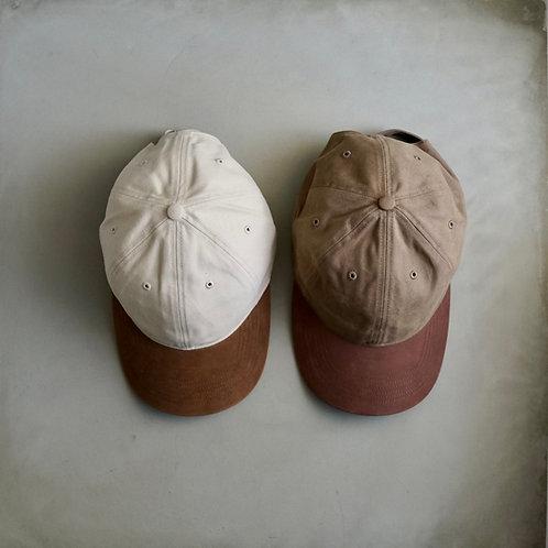 Richardson Leather × Twill Baseball Cap
