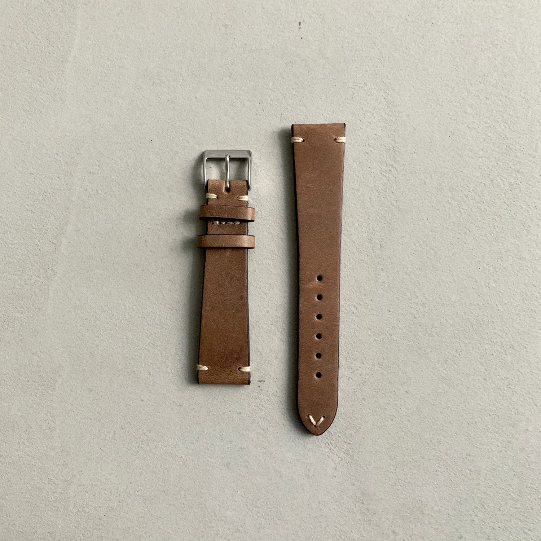 Fluco Hunter Leather Watch Strap - Beige