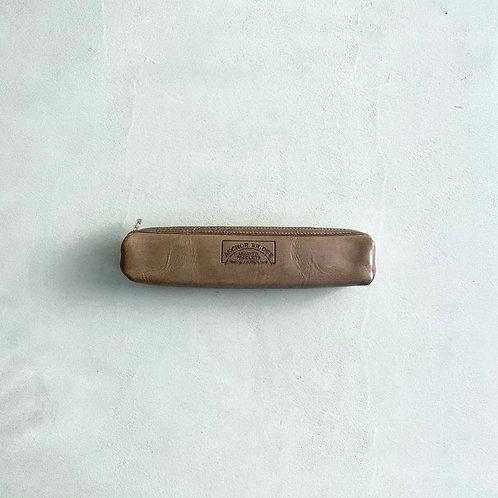 Anchor Bridge Waxed Leather Pen Case - Grey
