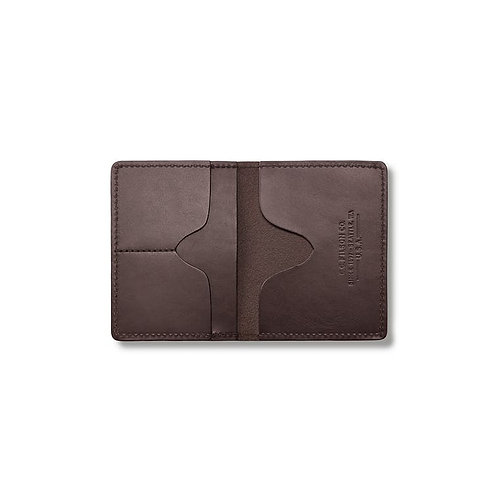 Filson Bridle Leather Passport and Card Case - Brown