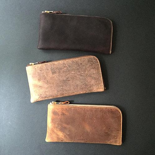 Anchor Bridge Kudu Leather Long Zip Wallet