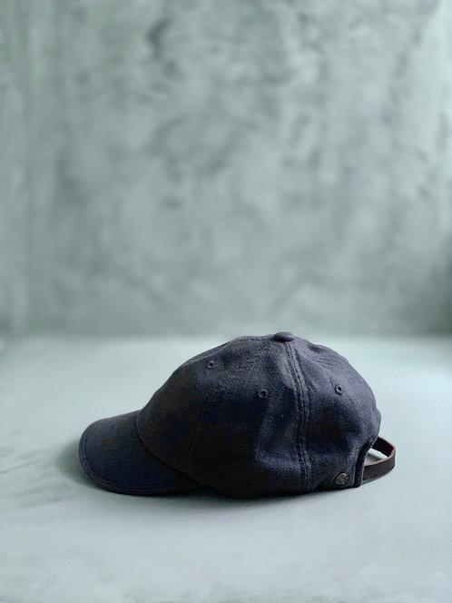 Morno Linen Wash Cap - Black