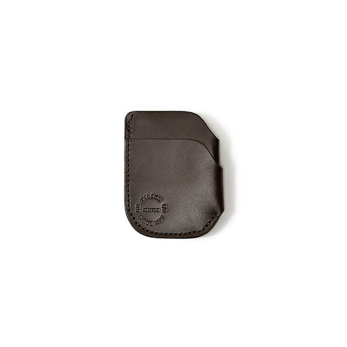 Filson Bridle Leather Front Pocket Cash and Card Case - Brown