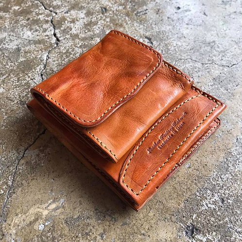 Roberu Italy Wash Leather Billfold Wallet
