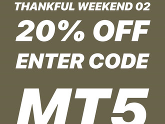 【20% OFF MODERN TIMES THANKFUL WEEKEND 五周年感謝周末 II・30 NOV - 2 DEC 2018 本星期五、六、日・MILITARY STANDARD 軍事格