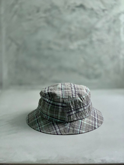 Morno European Fabric Check Bucket Hat
