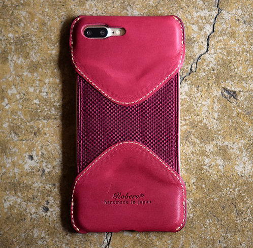 Roberu Leather iPhone 7P / 8P Case - Violet Pink