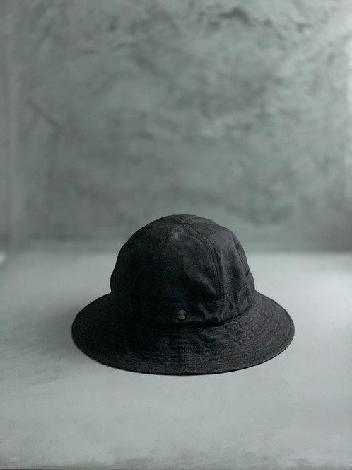 Morno Paper Cloth 6 Panels Bucket Hat - Black