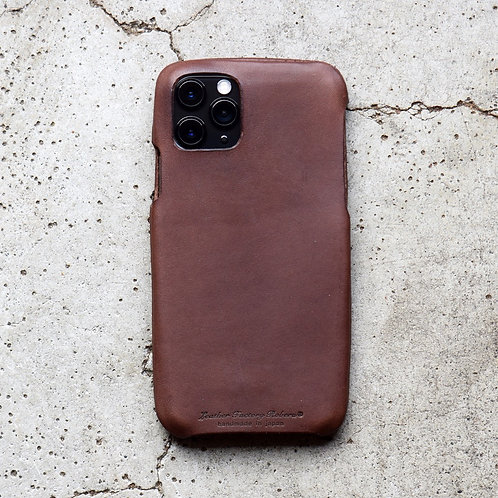 Roberu Italy Leather iPhone Case - Dark Brown