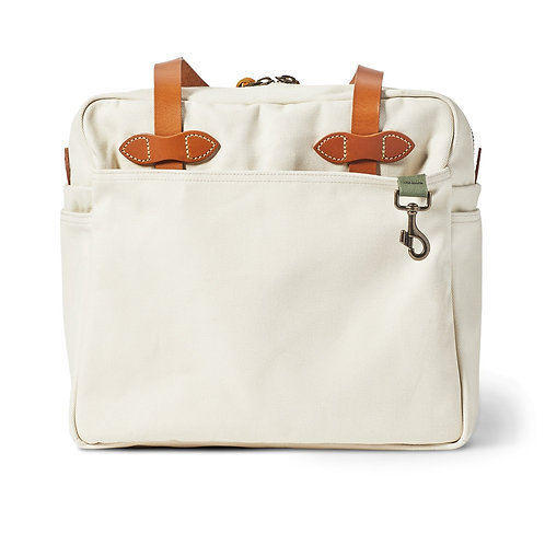 Filson Zippered Twill Tote - Natural