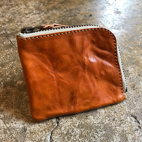 Roberu Italy Wash Leather Short Zip Wallet