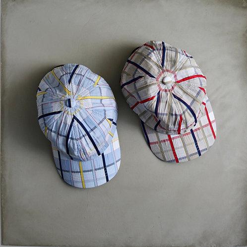 Morno European Fabric Madras Check Cap