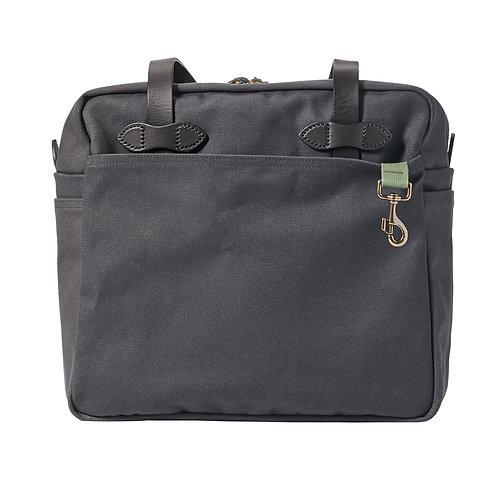 Filson Zippered Twill Tote - Cinder