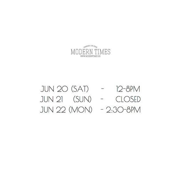 Special Opening Hours
